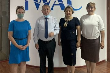 Information on the meeting of IWAC Director Serik Akhmetov with representatives of the USAID Regional Water and Environment project